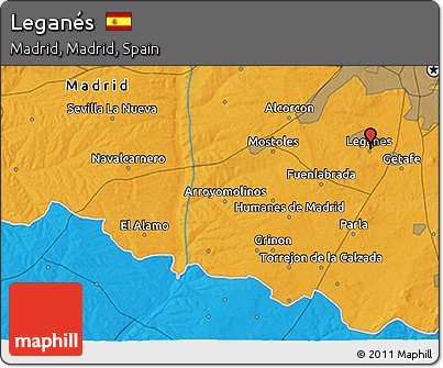 Free Political D Map Of Leganés - Leganés map