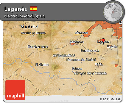 Free Satellite D Map Of Leganés - Leganés map