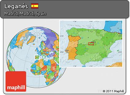 Free Political Location Map Of Leganés - Leganés map