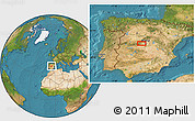 """Satellite Location Map of the area around 40°23'48""""N,4°10'30""""W"""