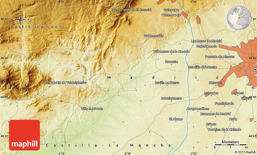 Physical Map Of Leganés - Leganés map