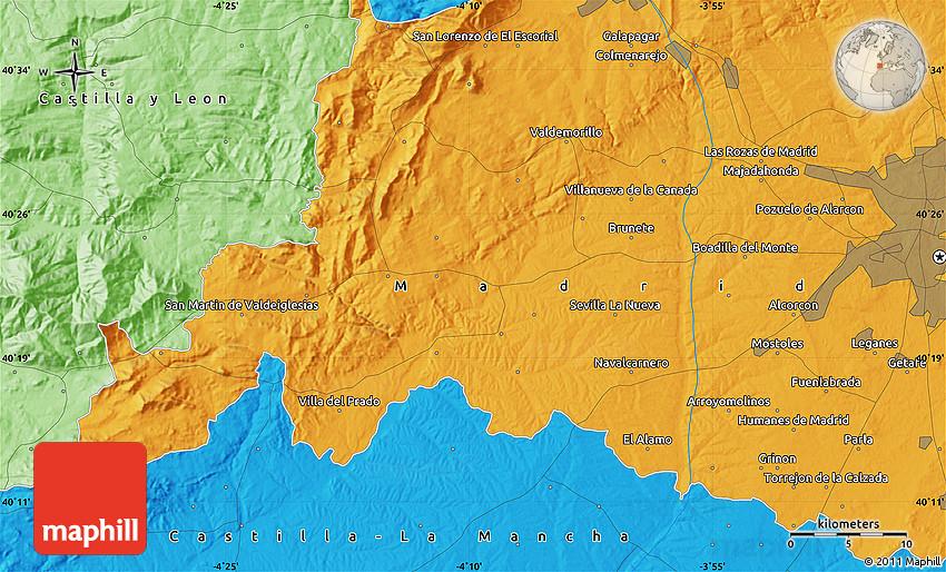 Political Map Of Leganés - Leganés map