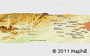 Physical Panoramic Map of Cuatro Vientos