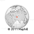 """Outline Map of the Area around 40° 23' 48"""" N, 63° 49' 30"""" E, rectangular outline"""