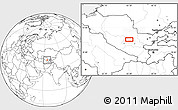 """Blank Location Map of the area around 40°23'48""""N,65°31'30""""E"""