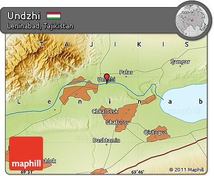 Free Physical Map of Undzhi