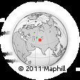 Outline Map of Khujand, rectangular outline