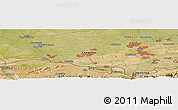 Satellite Panoramic Map of Yangiqo`rg`on