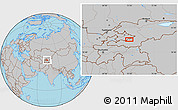 Gray Location Map of Quva