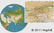 Satellite Location Map of Quva
