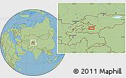 Savanna Style Location Map of Quva