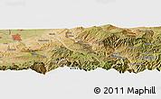 Satellite Panoramic Map of Osh