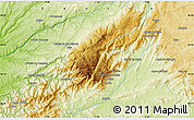 Physical Map of Vale de Estrela