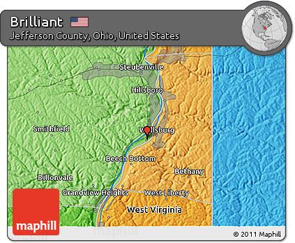 Brilliant Ohio Map.Free Political 3d Map Of Brilliant