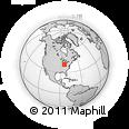 Outline Map of Bellefontaine, rectangular outline