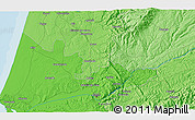Political 3D Map of Coimbra