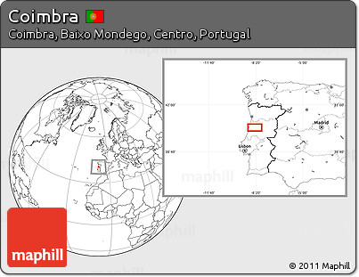 Blank Location Map of Coimbra