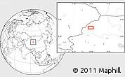 Blank Location Map of Mengjiaqiao