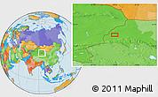 Political Location Map of Mengjiaqiao