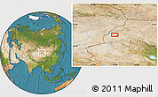 Satellite Location Map of Mengjiaqiao