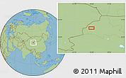 Savanna Style Location Map of Mengjiaqiao