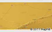 """Physical 3D Map of the area around 40°23'48""""N,95°16'30""""E"""