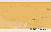 """Political 3D Map of the area around 40°23'48""""N,95°16'30""""E"""