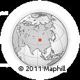Outline Map of Tianshuijing, rectangular outline