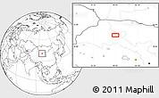 Blank Location Map of Choushuidun