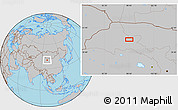 Gray Location Map of Choushuidun