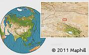 Satellite Location Map of Choushuidun