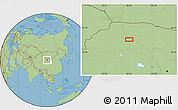 Savanna Style Location Map of Choushuidun