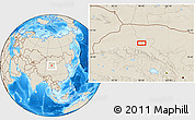 Shaded Relief Location Map of Choushuidun