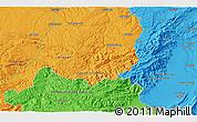 Political 3D Map of Godall