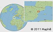 Savanna Style Location Map of Ulldecona