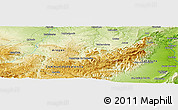 Physical Panoramic Map of La Miliana