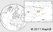 Blank Location Map of Amposta