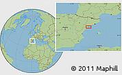Savanna Style Location Map of Amposta