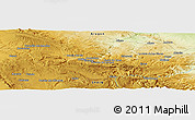 Physical Panoramic Map of Andorra