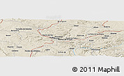 Shaded Relief Panoramic Map of Andorra