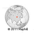 """Outline Map of the Area around 40° 50' 23"""" N, 102° 4' 29"""" E, rectangular outline"""