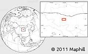 Blank Location Map of Hol Hudag