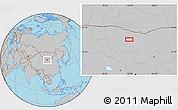Gray Location Map of Hol Hudag