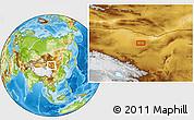 Physical Location Map of Har Burug