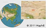 Satellite Location Map of Hol Hudag