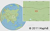Savanna Style Location Map of Hol Hudag