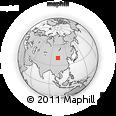 Outline Map of Har Burug, rectangular outline