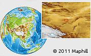 Physical Location Map of Har Borog