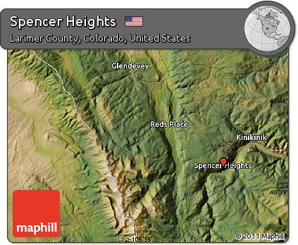 Satellite Map Of Spencer Heights