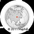 Outline Map of Linhe, rectangular outline